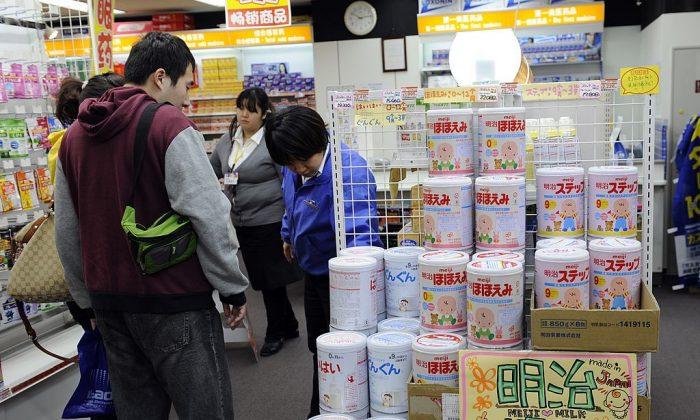 Chinese tourists shop in Akihabara, Tokyo on Feb. 10, 2011. (Toshifumi Kitamura/AFP/Getty Images)