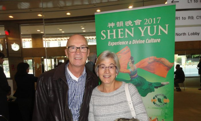 Retired government manager David Hayes and his wife, Colette Touma-Hayes, at the Shen Yun Symphony Orchestra performance at Toronto's Roy Thomson Hall on Oct. 23, 2016. (Madalina Hubert/Epoch Times)