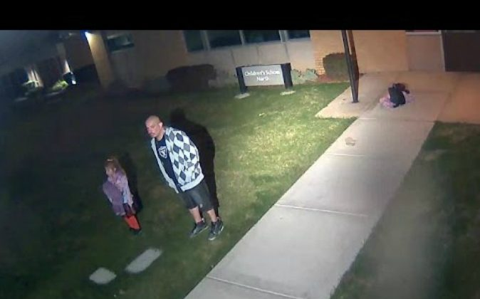 Adrian Sanchez is facing a felony charge of child abuse by abandonment after he left his daughter alone on a Utah college campus on Oct. 9 (YouTube)