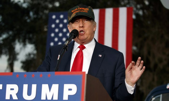 Republican presidential candidate Donald Trump speaks during a campaign rally, Tuesday, Oct. 25, 2016, in Tallahassee, Fla. (AP Photo/ Evan Vucci)