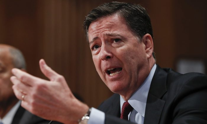 FBI Director James Comey testifies on Capitol Hill in Washington on Sept. 27, 2016. (AP Photo/Pablo Martinez Monsivais)