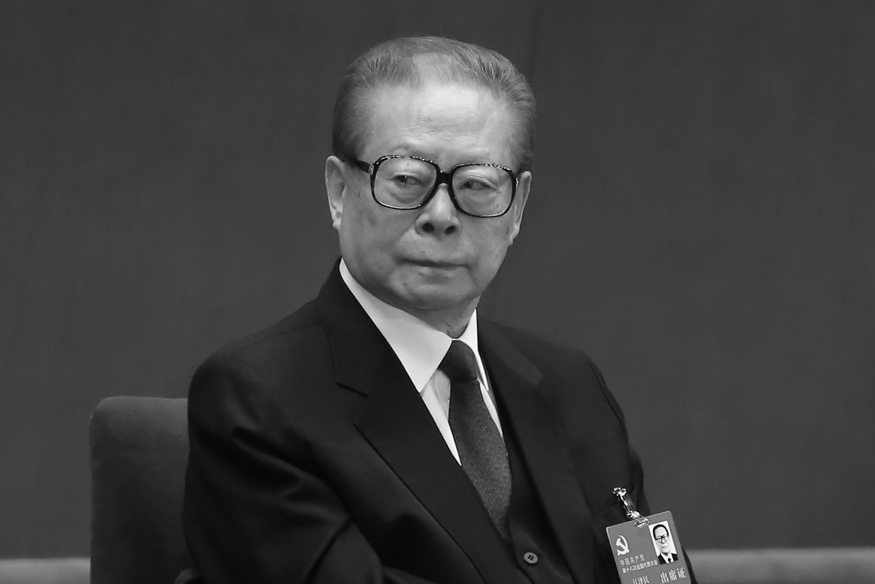 Former Chinese leader Jiang Zemin at the Great Hall of the People  in Beijing on Nov. 8, 2012. (Feng Li/Getty Images)