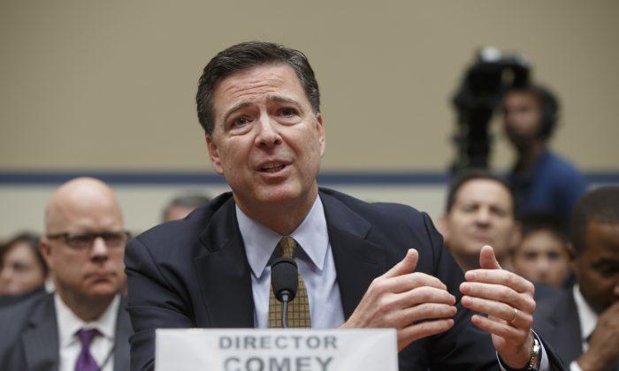FBI Director James Comey testifies on Capitol Hill in Washington, D.C., on July 7, 2016. (AP Photo/J. Scott Applewhite, File)