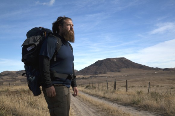 Tom Voss during the walk from Wisconsin to California. (Courtesy of Veterans Trek Production)
