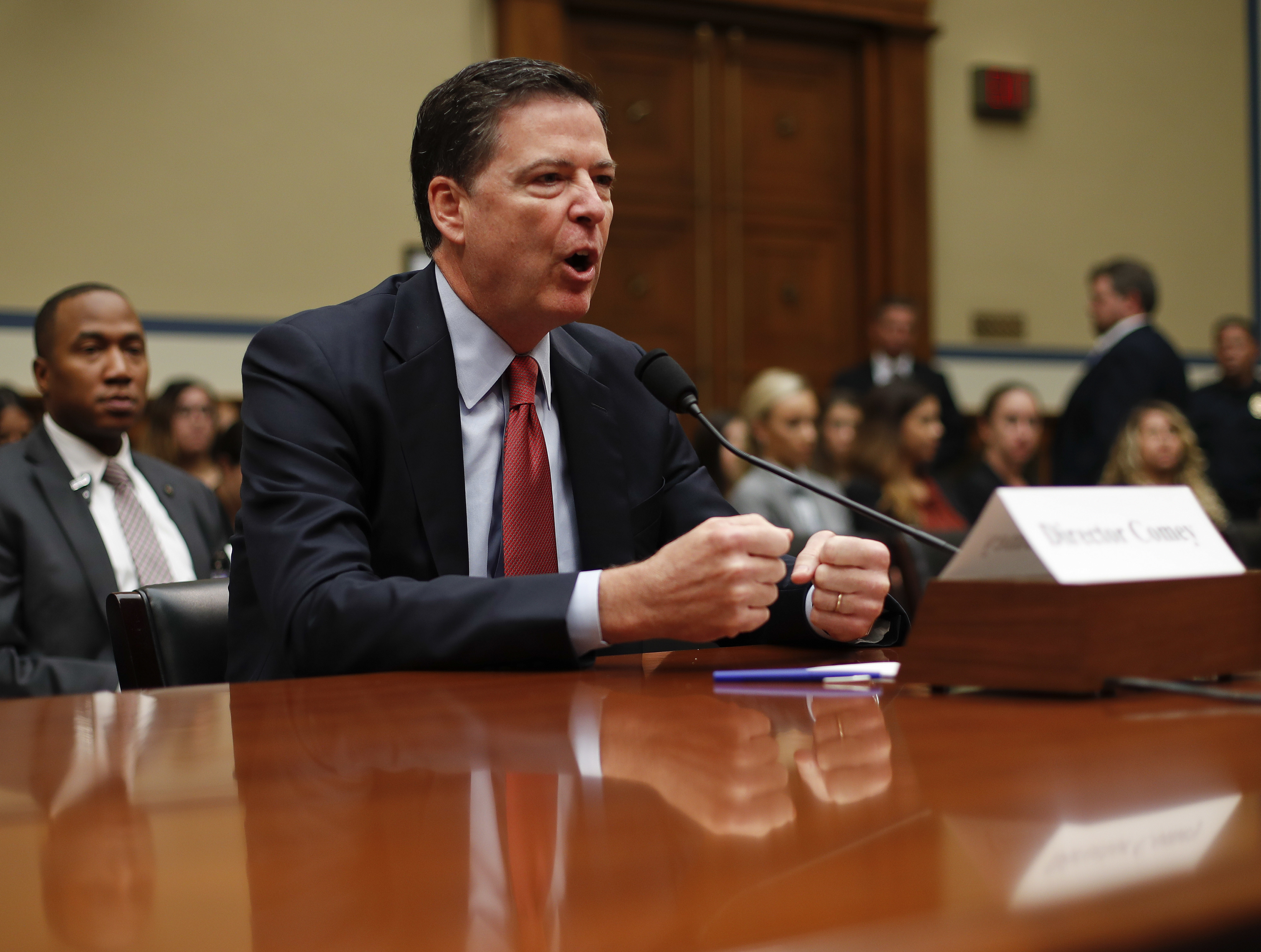 Report: Democrats 'Outraged' With Comey After Secret House Briefing