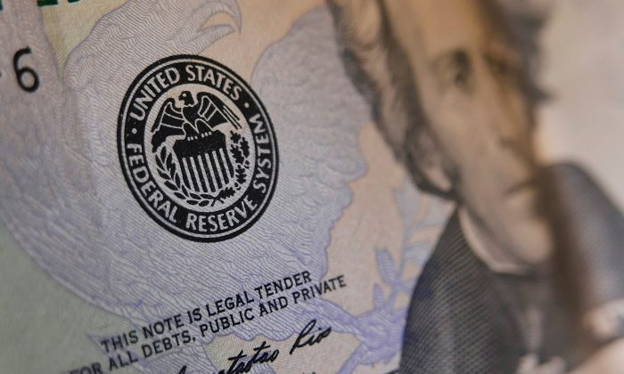 The seal of the Federal Reserve on a U.S. banknote. (Mandel Ngan/AFP/Getty Images)