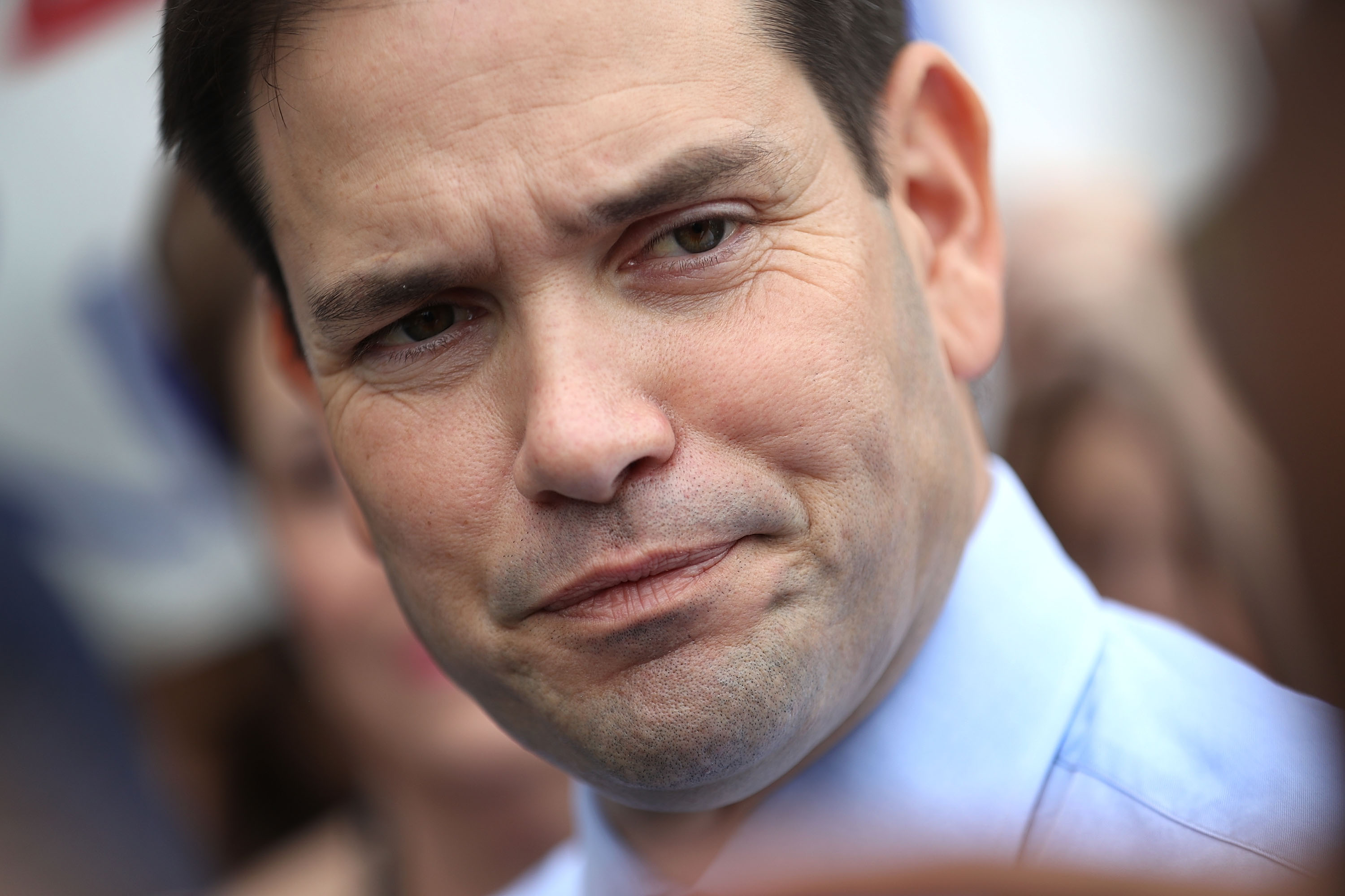 Sen. Marco Rubio (R-FL) speaks to the media after   casting his general election ballot during early voting in Miami, Florida on Oct. 31, 2016. Rubio slammed President Barack Obama on Nov. 26 for his 'pathetic' statement on the death of Cuban communist dictator Fidel Castro. (Joe Raedle/Getty Images)