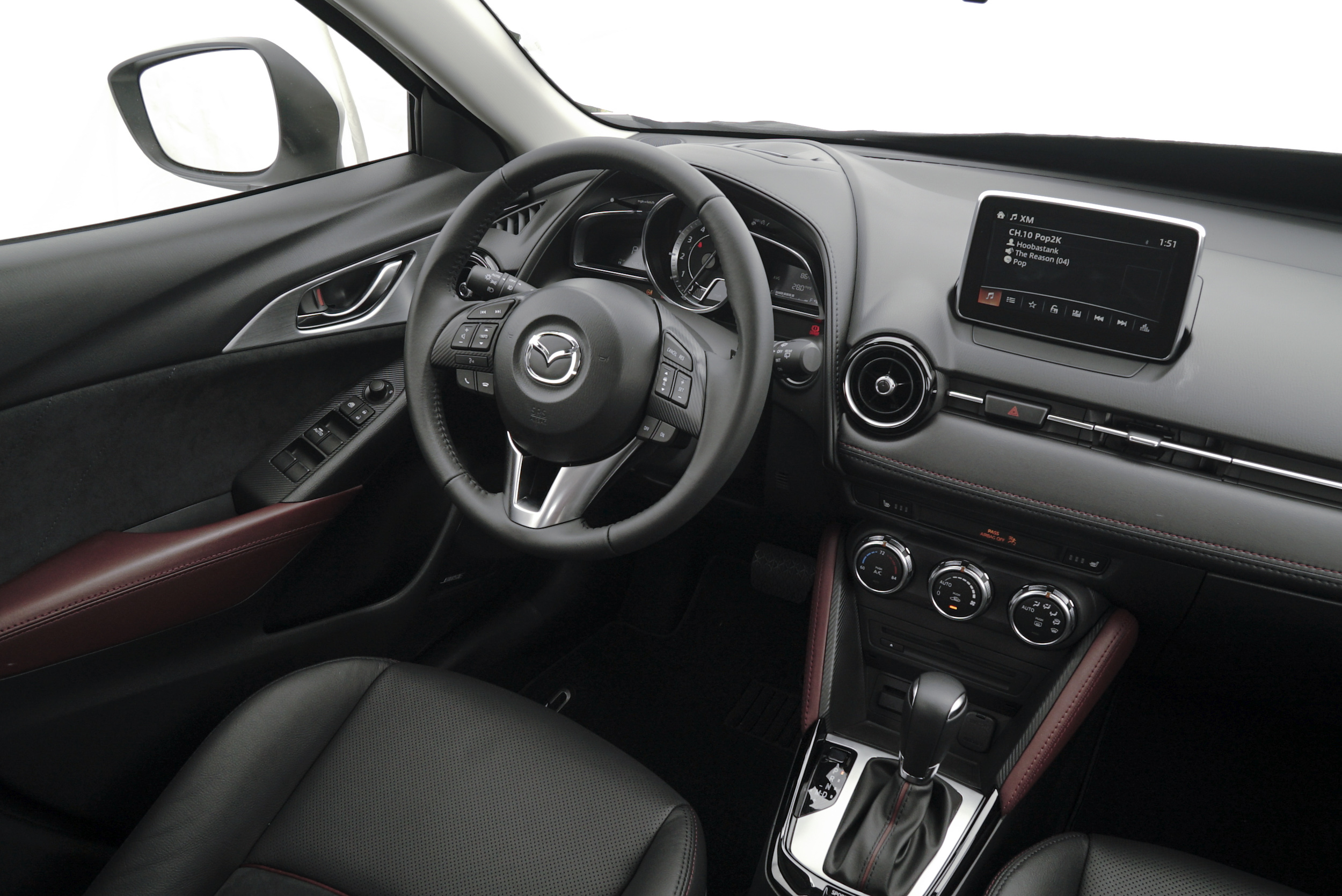 The interior of the cx 3 courtesy of mazda