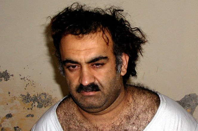 Khalid Sheikh Mohamed, upon capture in 2003 (Public Domain)