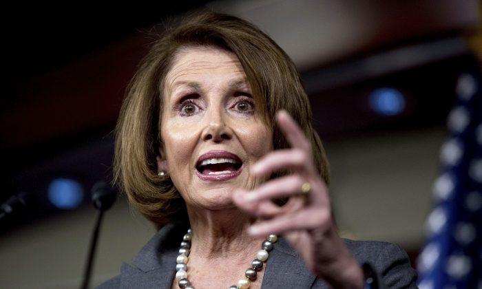 House Minority Leader Nancy Pelosi of Calif.  on Capitol Hill in Washington on Nov. 17, 2016. (AP Photo/Andrew Harnik)