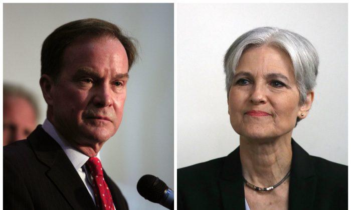 Bill Schuette (L) and Jill Stein.