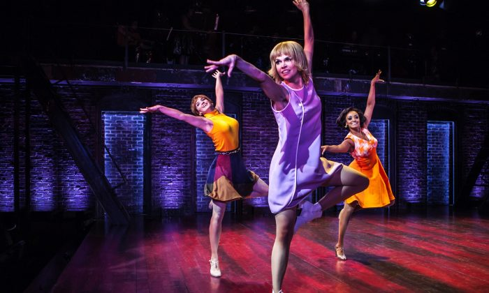 (L–R) Emily Padgett, Sutton Foster, Asmeret Ghebremichael, three taxi dancers hoping for a better life. (Monique Carboni)