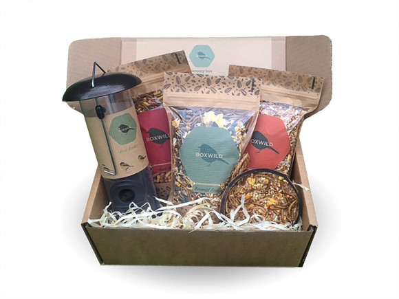 Boxwild's Bird Feeder Gift Box contains the essentials to help you feed your garden birds: three seed blends (Boxwild Blend, Songbird Blend and All Season's Blend) plus a bird feeder along with a fruit feeder and a seed scoop. An ideal gift for a bird lover. £28 inc delivery and a 50p donation is made to wildlife charities with every box sold. boxwild.com