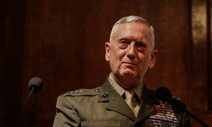 Gen. James Mattis, the head of U.S. Central Command, takes questions after delivering a lecture to the London think tank Policy Exchange on Feb. 1, 2011. (AP Photo/Matt Dunham)