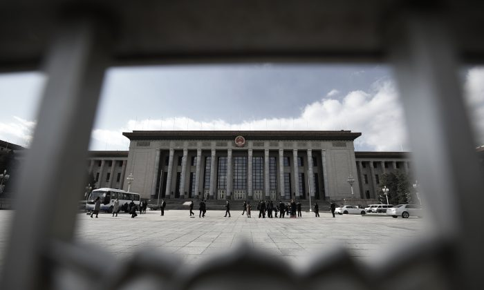 The Great Hall of the People in Beijing, where the  Chinese legislature holds its sessions. (Greg Baker/AFP/Getty Images)