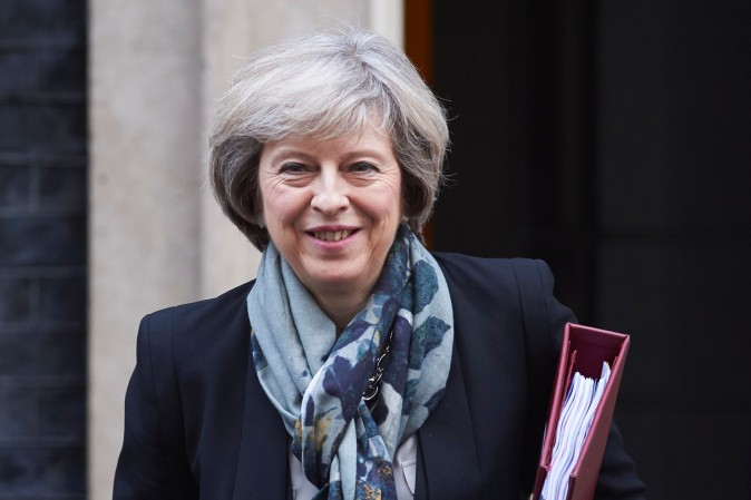 British Prime Minister Theresa May in London on Nov. 16. (NIKLAS HALLE'N/AFP/Getty Images)