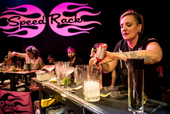 The winner of the 2016 Speed Rack competition, Lacy Hawkins of The NoMad Bar. (Gabi Porter)