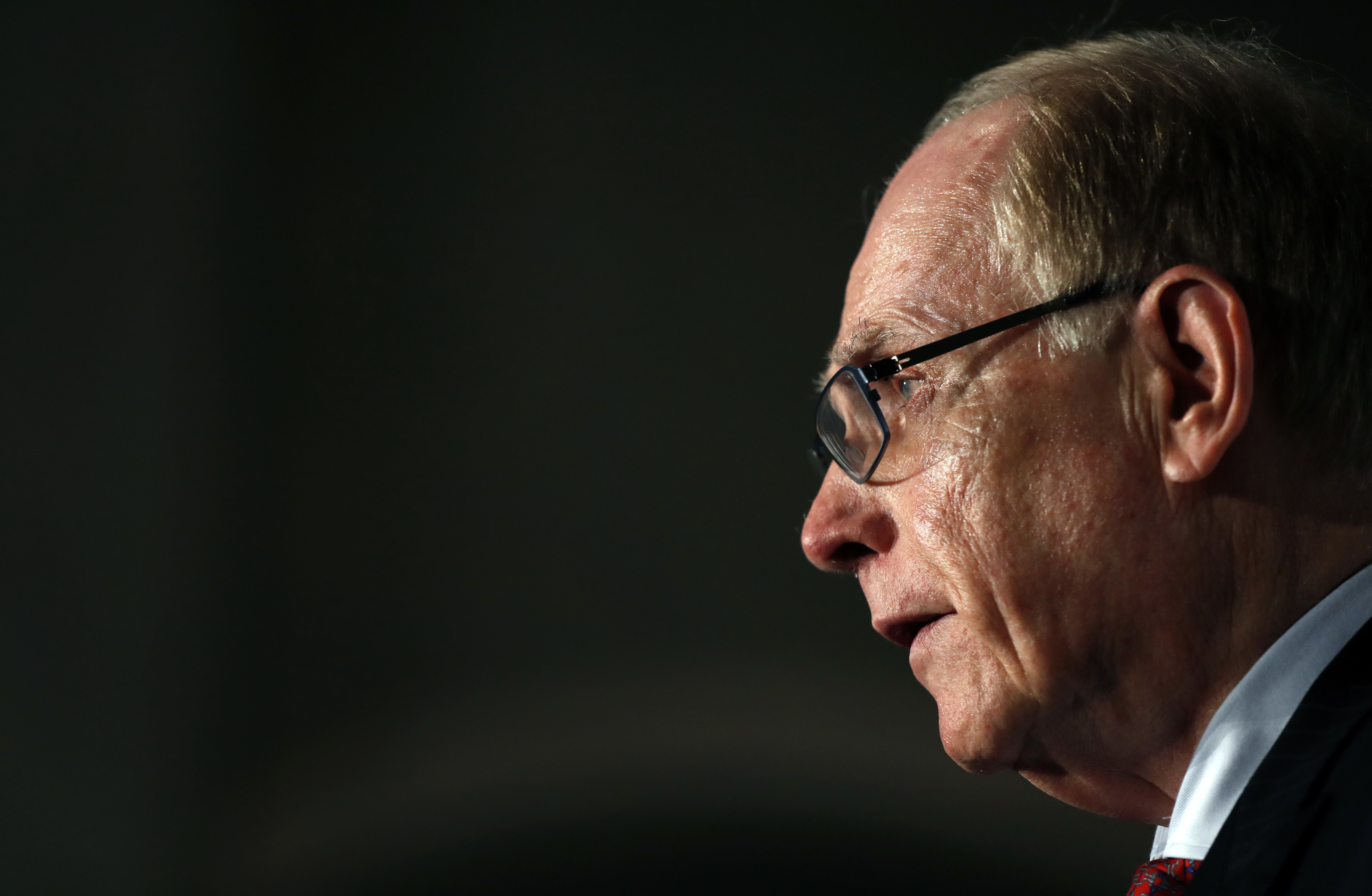 World Anti-Doping Agency investigator Richard McLaren during a press conference in London, on Dec. 9, 2016. (AP Photo/Kirsty Wigglesworth)