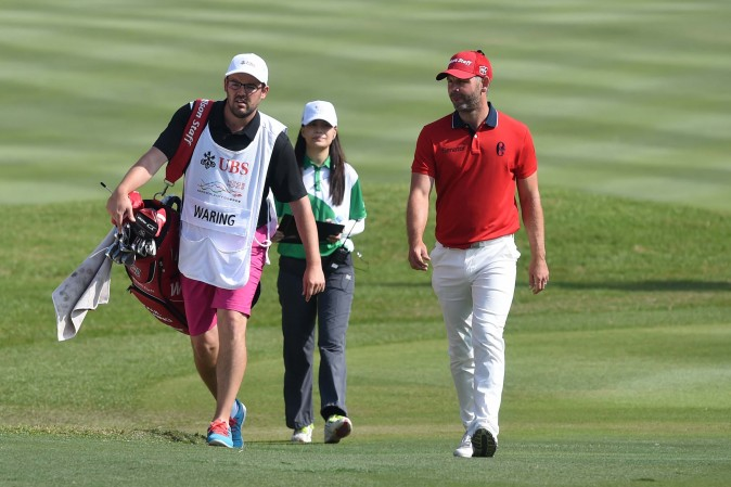 Paul Waring of England moved up the leaderboard on the final day of the UBS Hong Kong Open 2016 to finish  in 7th place on Sunday Dec 11, 2016. (Bill Cox/Epoch Times)