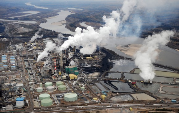 The Suncor oilsands extraction facility near the town of Fort McMurray in Alberta, Canada, on Oct. 23, 2009. Analysts predict the days of new mega-projects in the oilsands are over. (MARK RALSTON/AFP/Getty Images)