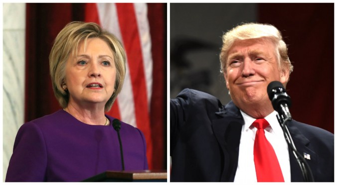 Hillary Clinton and Donald Trump. (Mark Wilson/Getty Images--TIMOTHY A. CLARY/AFP/Getty Images)