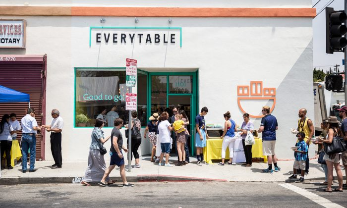 The Everytable first restaurant in South Los Angeles which opened on July 30, 2016. Each restaurant location has different pricing structures depending on the neighborhood. (Everytable)