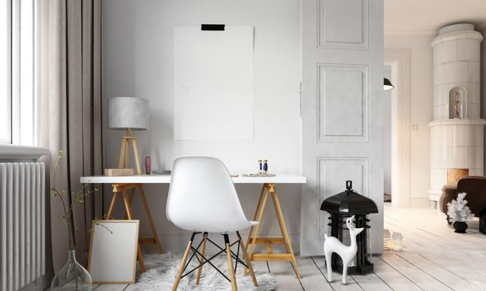 Stylish, simple, and monochromatic is the epitome of Scandinavian-style decorating. (PlusONE/Shutterstock)