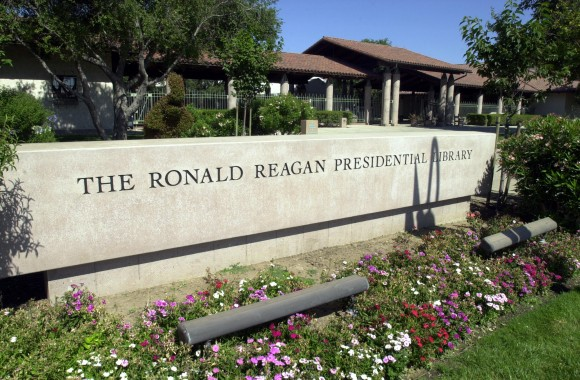 The Ronald Reagan Presidential Library is seen in Simi Valley, Calif. on Jun. 5, 2004. (Photo by Ringo H.W. Chiu/Getty Images)