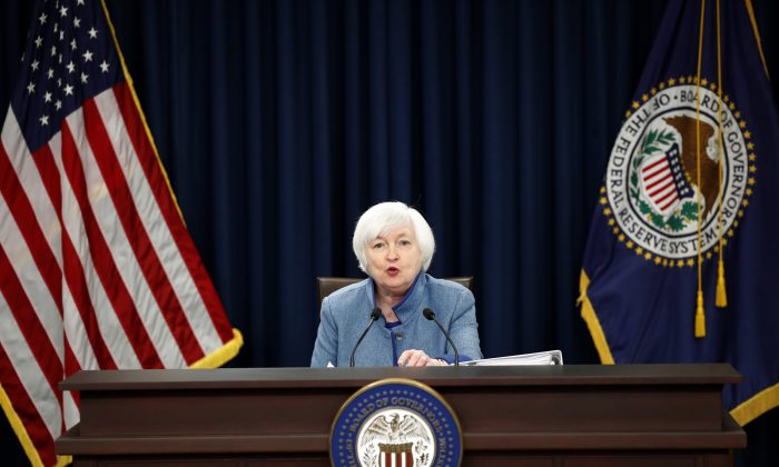 Federal Reserve Chair Janet Yellen speaks during a news conference on Dec. 14, 2016 in Washington. The Fed raised its key policy rate for the second time in a decade. (AP Photo/Alex Brandon)