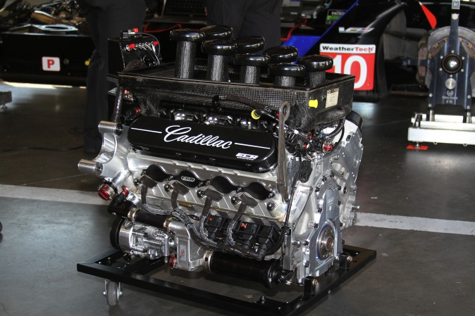 Cadillac's 6.2-liter naturally aspirated V8 pushed the Cars it powered to the highest speeds of the four test sessions. (Chris Jasurek/Epoch Times)