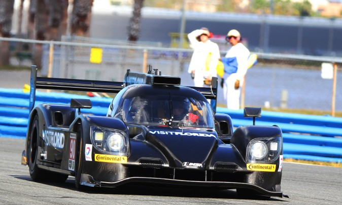 The #90 VisitFlorida Riley-Multimatic Mk 30-Gibson was the only LMP2 at the test, and hit the fourth highest top speed at 195 mph. (Chris Jasurek/Epoch Times)