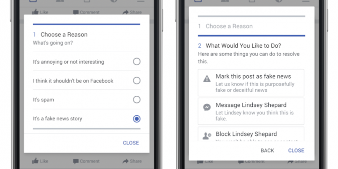 Facebook users will be able to report stories they think are fake news (Facebook)