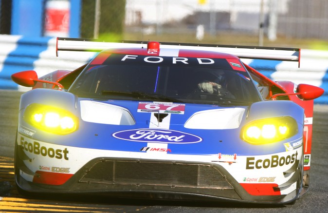 Scott Dixon and Ryan Briscoe will share this Ford/Ganassi Ford GT with Richard Westbrook. (Chris Jasurek/Epoch Times)