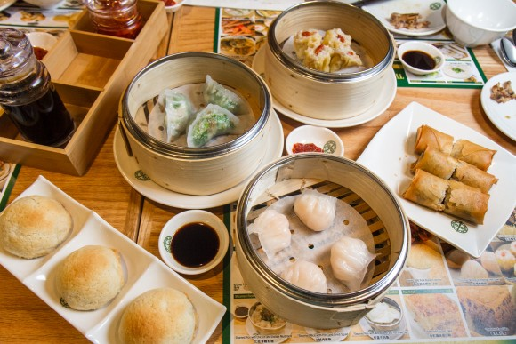 Dim sum dishes at New York's Tim Ho Wan. (Channaly Philipp/The Epoch Times)