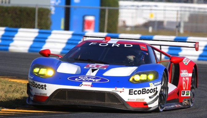 Richard Westbrook in the #67 Ford GT set the fastest GTLM lap of the two-day test, 1:45.05 at 121.6 mph. (Chris jasurek/Epoch Times)