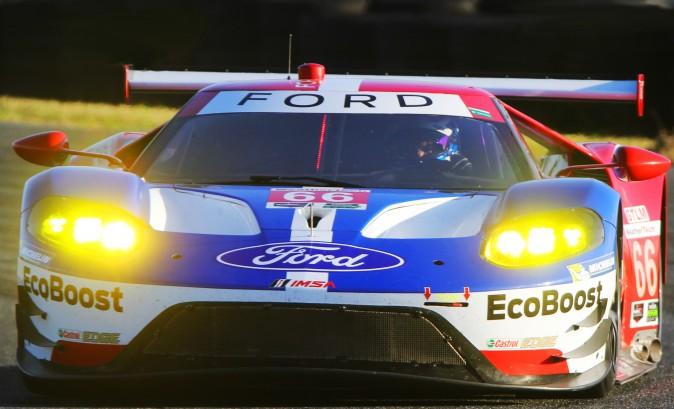 Dirk Mueller drives the #66 Ford GT. (Chris Jasurek/Epoch Times)