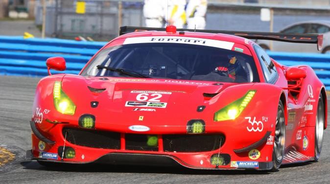 Toni Vilander set the quickest time in the #62 Risi Ferrari 488 GTE. (Chris Jasurek/Epoch Times)