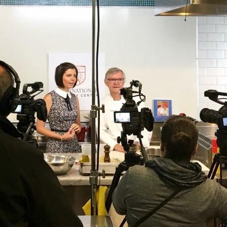 Sibylle Eschapasse and Chef Guy Reuge. (Karen Dumonet)