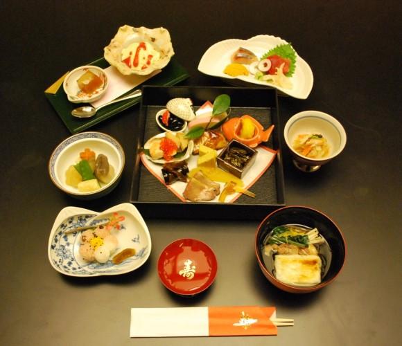 Hakubai's New Year's dishes. (Courtesy of Hakubai)