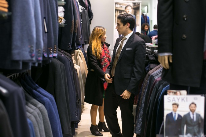 The SAYKI grand opening and holiday cocktail event at their first store in New York on Dec. 15, 2016. (Benjamin Chasteen/Epoch Times)