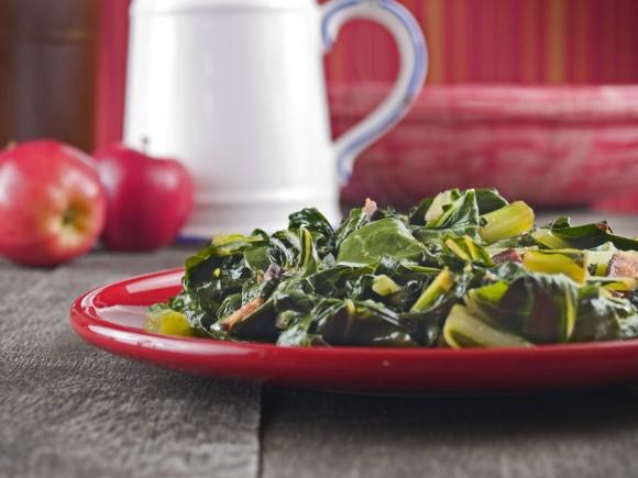 Collard greens and bacon (Mona Makela/Shutterstock)