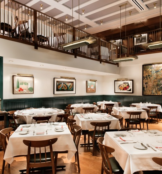 The Union Square Cafe dining room. (Emily Andrews)