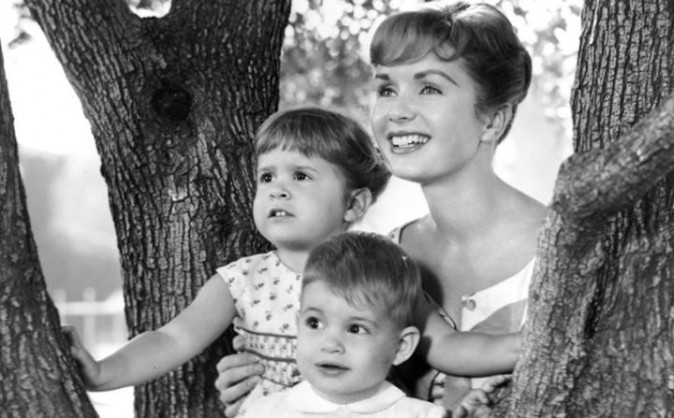 Debbie Reynolds with Carrie Fisher and Todd Fisher in an undated photo (Facebook)