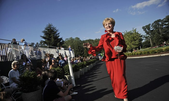 Actress Debbie Reynolds arrives at The Greenbrier for the gala opening of the Casino Club in White Sulphur Springs, W.Va., in this file photo. (AP Photo/Jeff Gentner)