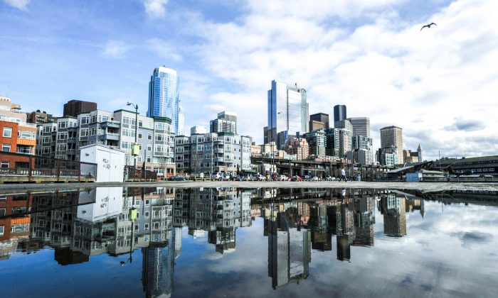 The skyline in Seattle in 2011. Seattle has become an attractive destination for wealthy Chinese in recent years. (MARK RALSTON/AFP/Getty Images)