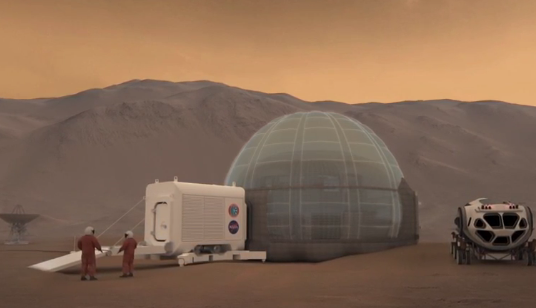 Here's What Our First Home on Mars May Look Like (Video)