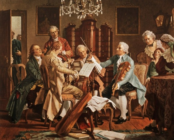 Joseph Haydn playing quartets. (Public Domain)