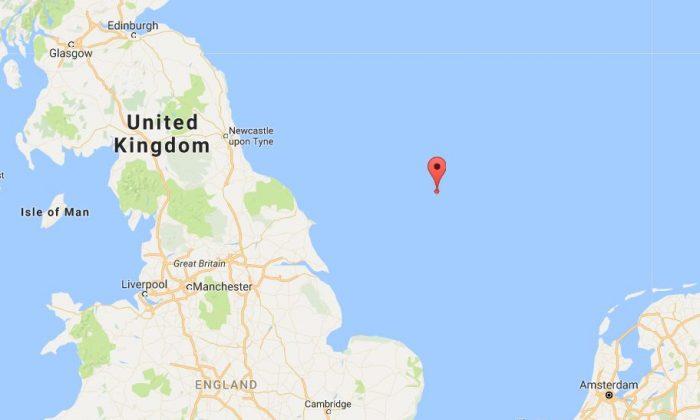 Where the quake struck in the North Sea (Google Maps)