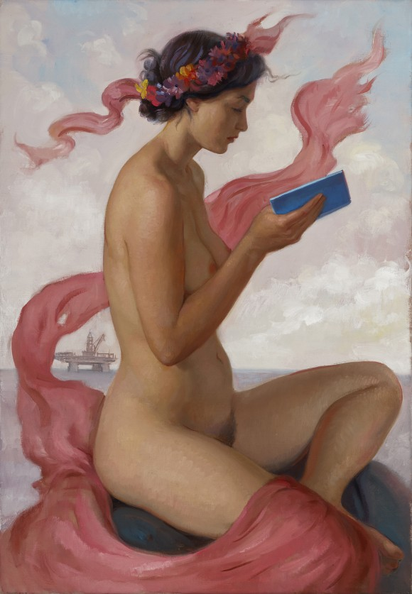 """Pink Sibyl,"" 2015, by Patricia Watwood. Oil on linen, 20 by 14 inches. (Courtesy of Patricia Watwood)"
