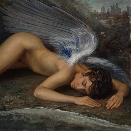 """""""Fallen Angel,"""" 2012, by Patricia Watwood. Oil on linen, 30 inches by 30 inches. (Courtesy of Patricia Watwood)"""